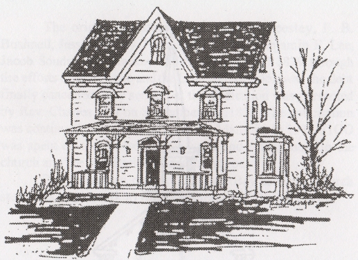 pencil drawing of 2016 featured house The Herbert M. and Harriet Carroll House - 1883