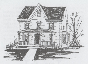 Alice McGuigan pencil drawing of featured house